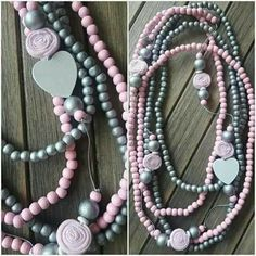 Nici's Accessories. #queenm <3 Wooden Bead Necklaces, Wooden Beads, Beaded Necklaces, Diy Jewelry, Beaded Jewelry, Handmade Jewelry, Diy Necklace, Pearl Necklace, Jewerly