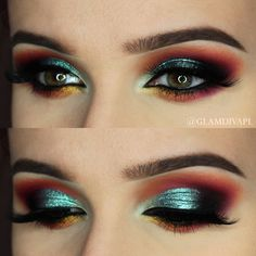 Check out our favorite Fire Outside inspired makeup look. Embrace your cosmetic addition at MakeupGeek.com!