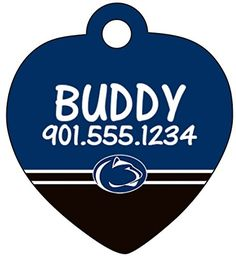 Penn State Nittany Lions Dog Tag Cat Tag Pet Id Tag Personalized w Name  Number * You can find out more details at the link of the image.
