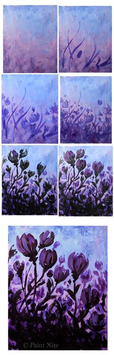 New Canvas Art Diy Flower Medium Ideas Painting & Drawing, Watercolor Paintings, Wine And Canvas, Illustration Blume, Diy Canvas Art, Art Graphique, Learn To Paint, Flower Art, Diy Flower