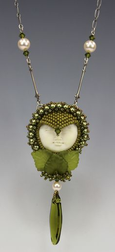 Green Girl 2014 - By Diane Hyde. For the book Beading All-Stars, Lark Pub.