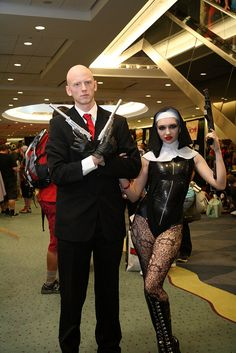 Agent 47 and Assasin Nun - Hitman, via Flickr.
