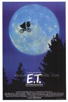 I saw ET the year it was released at the Huntington Mall in WVA in 1982.  I literally balled my eyes out when ET died.  The movie was just EPIC.  I remember being disappointed when it lost best picture to Ghandi??  I still refuse to see it because it beat ET and besides how many people pop Ghandi to share with the family?