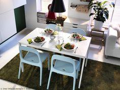 Ako se večere kod tebe često pretvore u super zabave, MELLTORP stol može ti koristiti jer je izrađen od melaminske ploče koja je otporna na vlagu i mrlje i lako se čisti. www.IKEA.hr/MELLTORP_stol