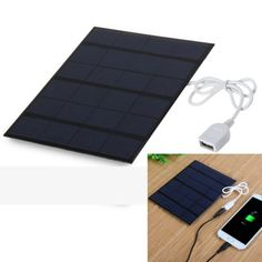 Solar Panel USB Phone Power Bank Charger Camping Hking Supplies #outdoors #gadgets
