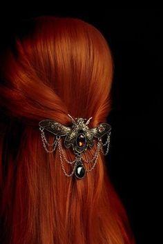 "ilusion-fantasia: ""Restyle Steampunk Beetle Barrette Steampunk Hair Clip • """