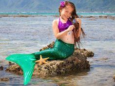 Ariel Green Scale Mermaid Tail - Mermaid Tails (Kids, Teens ...