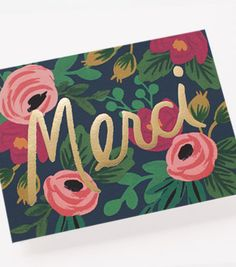 Rosa Merci Thank You Card | Rifle Paper Co.