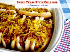 Baked Texas Style Chili Dogs {Granny's Recipe Revisited}