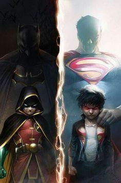 Son of Batman & Son of Superman Batman Vs Superman, Batman Art, Batman Arkham, Batman Robin, Marvel Vs, Marvel Dc Comics, Der Joker, Dc Rebirth, Univers Dc