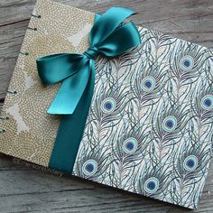 Wedding Guest Book Posh Peacock MEDIUM 8x6 MADE by EmersonBindery, $30.00