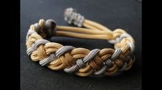 How to Make a Paracord Celtic Bar Bracelet- Mad Max Style Closure- Vikin...