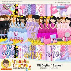 Kit digital Meus 15 anos - Armazém Criativo
