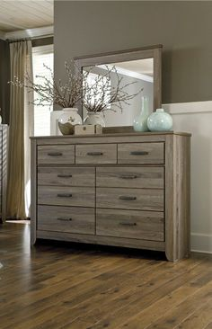 zelen bedroom mirror by signature designs at kensington furniture i love this piece of bedroom bedroom mirrorsbedroom dressersbedroom decormaster - Bedroom Dresser Decorating Ideas