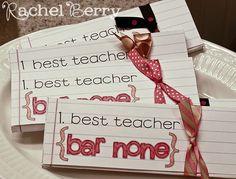 Candy Bar Box for teacher appreciation
