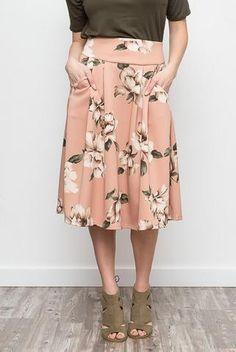 Blush Floral Skirt