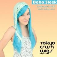 Boho Sleek - Turquoise Mint Boho Waves- Light Blonde $46.99 with free shipping within the U.S.