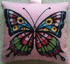 Butterfly Fabric Lavender Bag - Handmade