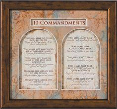 The Ten Commandments Printable Catholic Catholics Kids