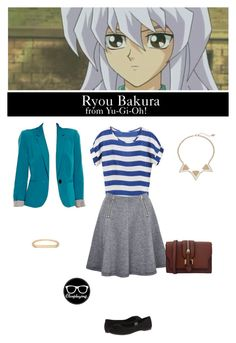 """Ryou Bakura - Yu-Gi-Oh!"" by closplaying ❤ liked on Polyvore<<<*THROWS TABLE* YAS"