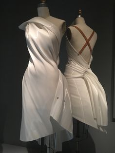 Colombe dress (wall mounted and dressed)  Issey Miyake Spring/Summer 1991