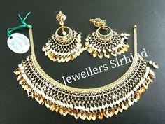 Fancy Jewellery, Royal Jewelry, India Jewelry, Gold Jewellery Design, Gold Necklace Simple, Gold Jewelry Simple, Punjabi Bride, Indian Wedding Jewelry, Samar