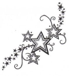 Star Tattoo - thinking this is what ill add to my 3 star tattoo i already have on foor :)