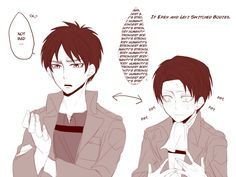 What would happen if Eren and Levi switch bodies. I bet Levi would like being…