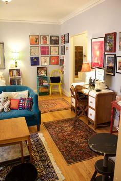 Simona's Cozy Quarters — Small Cool 2016 | Apartment Therapy #retrohomedecor