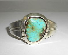 Turquoise me anyday love looking like a cowgirl with this! Sterling Silver Cuff, Turquoise Bracelet, Silver Jewelry, Silver Jewellery, Silver Decorations