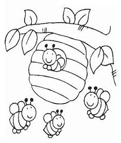 83 En Iyi Arı Görüntüsü 2019 Bees Bee Ve Coloring Pages