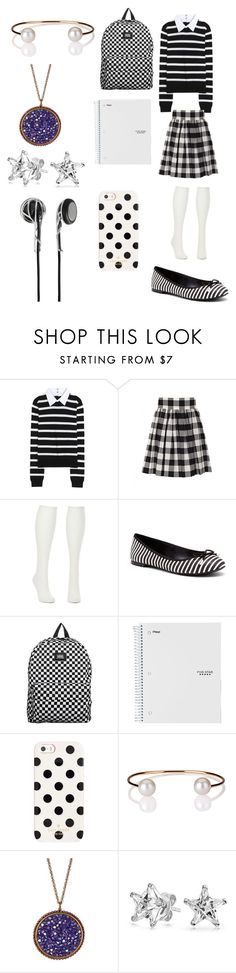 """""""Creepypasta: What Laughing Jill would wear to school"""" by ender1027 ❤ liked on Polyvore featuring Alice + Olivia, Dolce&Gabbana, Charlotte Russe, Sole Society, Vans, Kate Spade, Letters By Zoe, Liz Palacios, Bling Jewelry and Frends"""