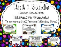This is a bundle of Reading Street Unit 1 Interactive Notebooks/Journals Common Core Edition for Kindergarten. This is an interactive way to review the skills taught in these lessons. Please take a look at each unit separately for more information. The stories included are:1.
