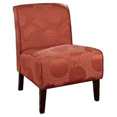 Skyline Furniture Armless Accent Chair In Patriot Tangerine | Orange You  Glad I Didnu0027t Say Orange? | Pinterest | Living Rooms, Decorating And Room