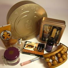 This week's prize hoard for The Joy Genie competition. Enter at http://www.facebook.com/thebodyshopuk