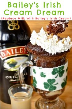 If you are stuck inside this St. Patricks Day a way to have some fun is to grab one of our chocolate mug cakes or buddy cakes and make an adult variation of our classic chocolate mug cake. Chocolate Baileys, Chocolate Fudge Frosting, Chocolate Mug Cakes, Decadent Chocolate, Great Desserts, Gluten Free Desserts, Easy Mug Cake, Baileys Irish Cream, Allergy Free Recipes
