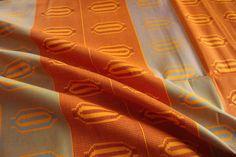 Kente Print Fabric for head wrap headscarf Ankara by EtamStudio Ankara Fabric, African Fabric, Unique Outfits, Head Wraps, Crafts To Make, Printing On Fabric, Wax, Navy Blue, Peach
