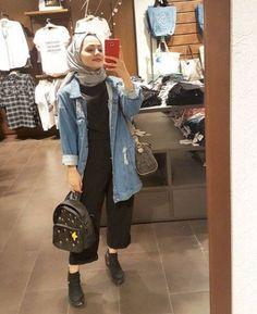 ideas for dress Hijab simple Hijab casual - Ideas for dress simple casual hijab ideas fo Casual Hijab Outfit, Outfits Casual, Ootd Hijab, Hijab Chic, Fashion Outfits, Casual Ootd, Dress Casual, Classy Outfits, Modern Hijab Fashion