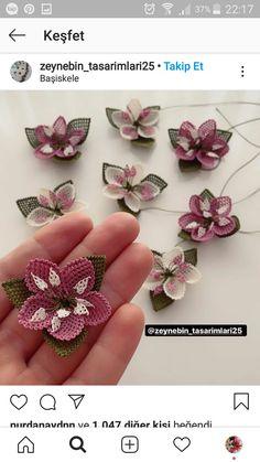 Floral, Flowers, Jewelry, Punch Needle, Amigurumi, Pattern, Jewlery, Jewerly, Schmuck