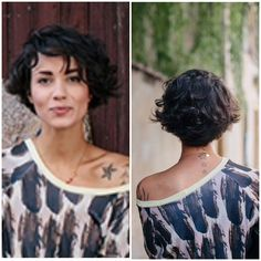 Wedge haircut with wave New Site Wedge haircut with wave # Curly Hair Cuts curlybobhaircuts Haircut site Wave Wedge Bob Haircut Curly, Haircuts For Curly Hair, Short Wavy Hair, Curly Hair Cuts, Curly Hair Styles, Curly Bangs, Bob Bangs, Wavy Pixie, Hair Bangs