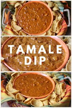 It's a little spicy, cheesy, and full of Mexican flavor. The big chunks of tamales are so yummy with the corn chips. This is a hearty dip that's great for game day, movie night or a nice appetizer for your next taco night.