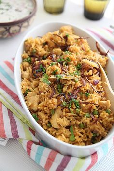 Aromatic chicken pilaf, all the flavors of biryani but half the effort