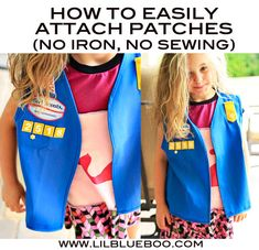 how to easily attach girl scout (or boy scout) patches via lilblueboo.com #diy #girlscouts