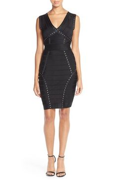 French Connection Embellished Bandage Dress available at #Nordstrom