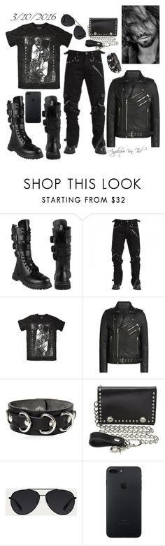 """Heavy Metal"" by angelique-von-tod ❤ liked on Polyvore featuring Blackcraft, Balmain, Dsquared2, M&F Western, Bally, men's fashion and menswear"