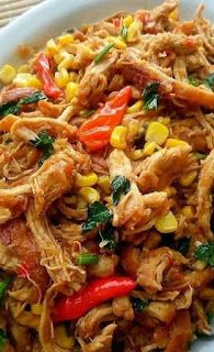 Ayam Suwir Gurih Pedas Resep Masakan Ayam Resep Ayam