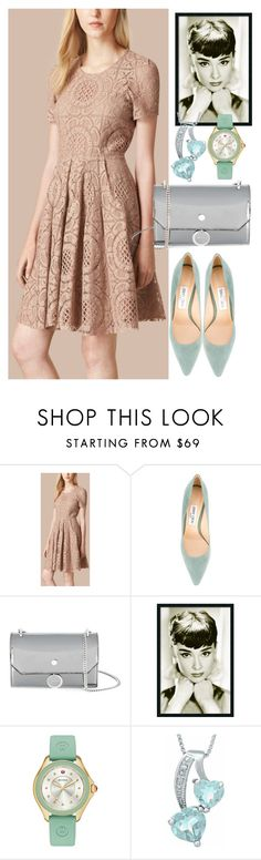 """""""dress"""" by masayuki4499 ❤ liked on Polyvore featuring Burberry, Jimmy Choo and Michele"""