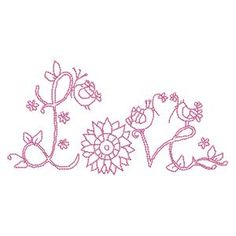 Love - Free Instant Machine Embroidery Designs