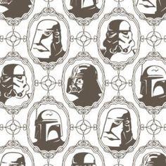 Official Star Wars™ - Flocked Velvet Wallpaper