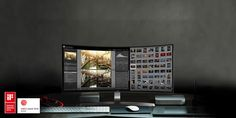 """34"""" Curved LED Monitor by LG"""